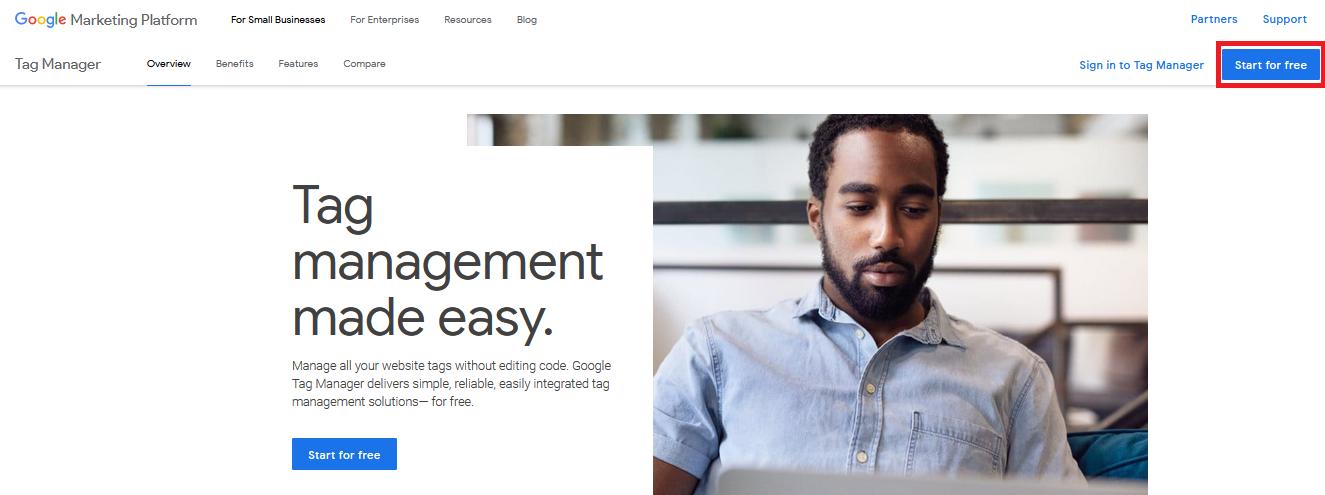 сервис Google Tag Manager