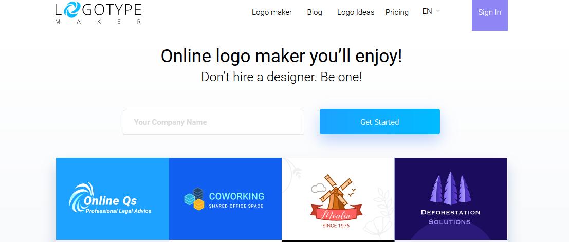 создание логотипа в Logotype Maker