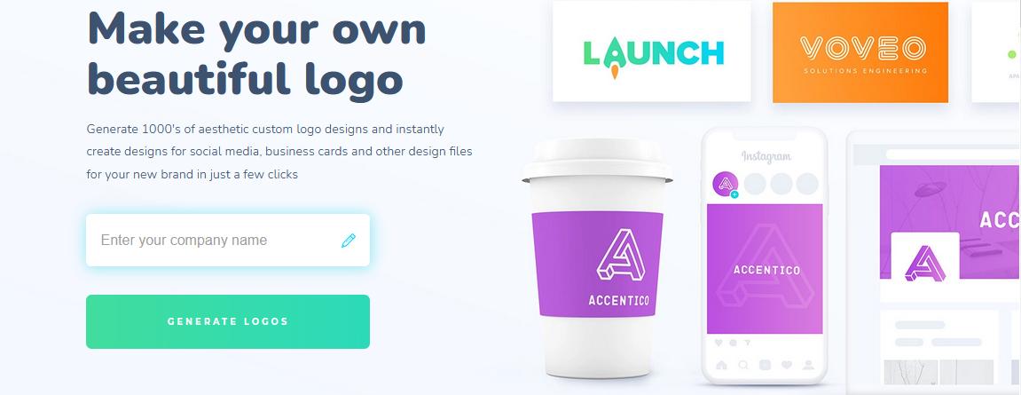 создание логотипа в Logopony