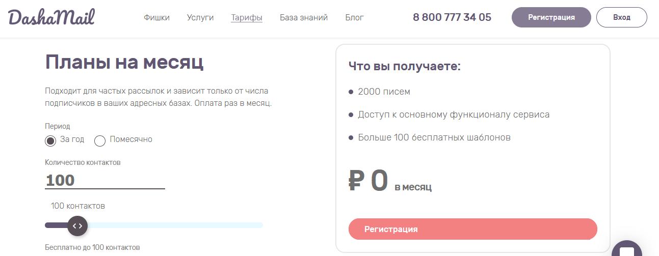 Сервис организации рассылки DashaMail