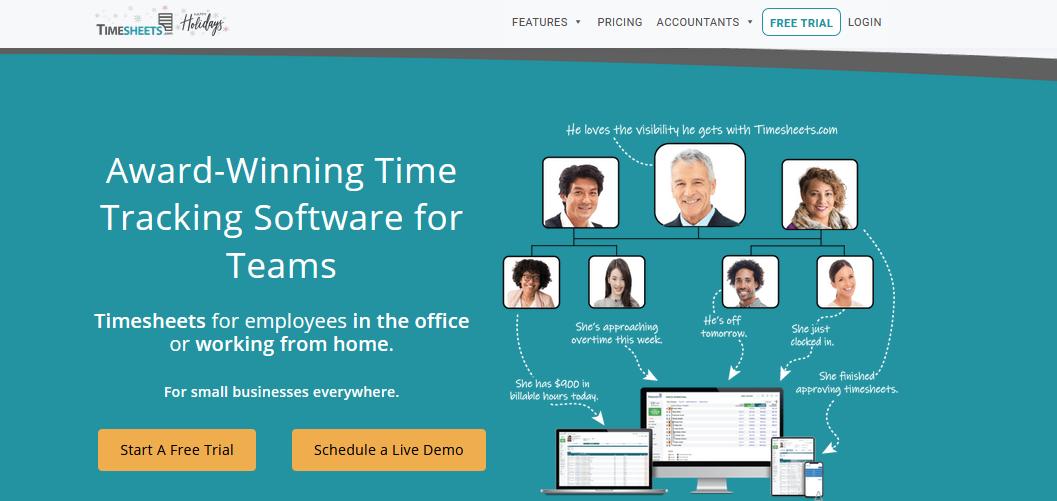 Сервис учета рабочего времени сотрудников Timecheets