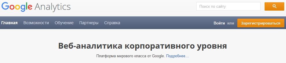 анализ сайта в Google Analytics