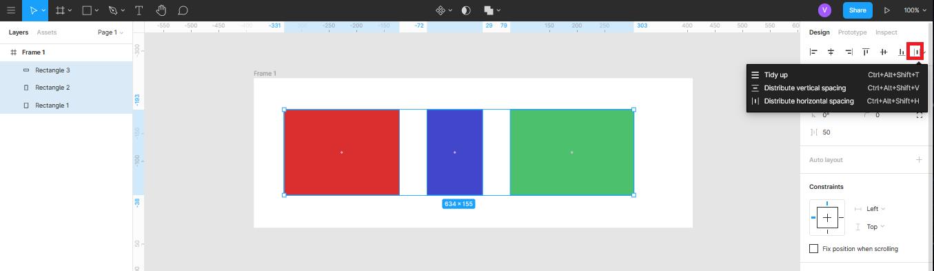 функция Tidy app в Figma
