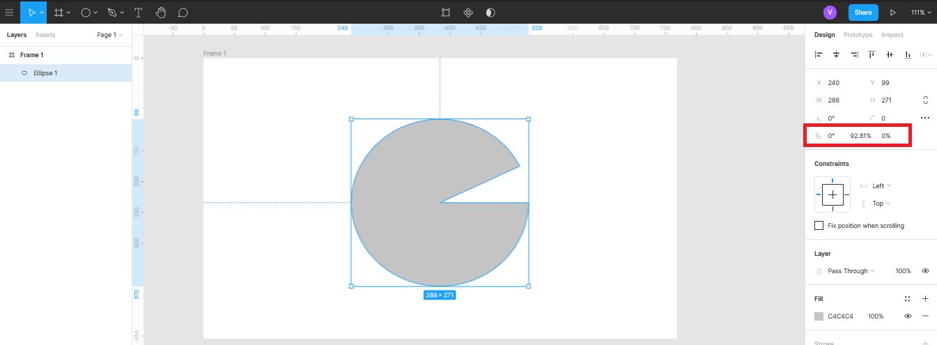 Использование функции разреза в круге