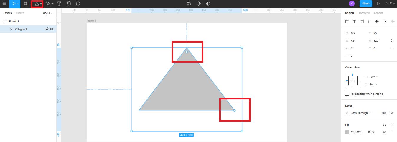 треугольник в Figma