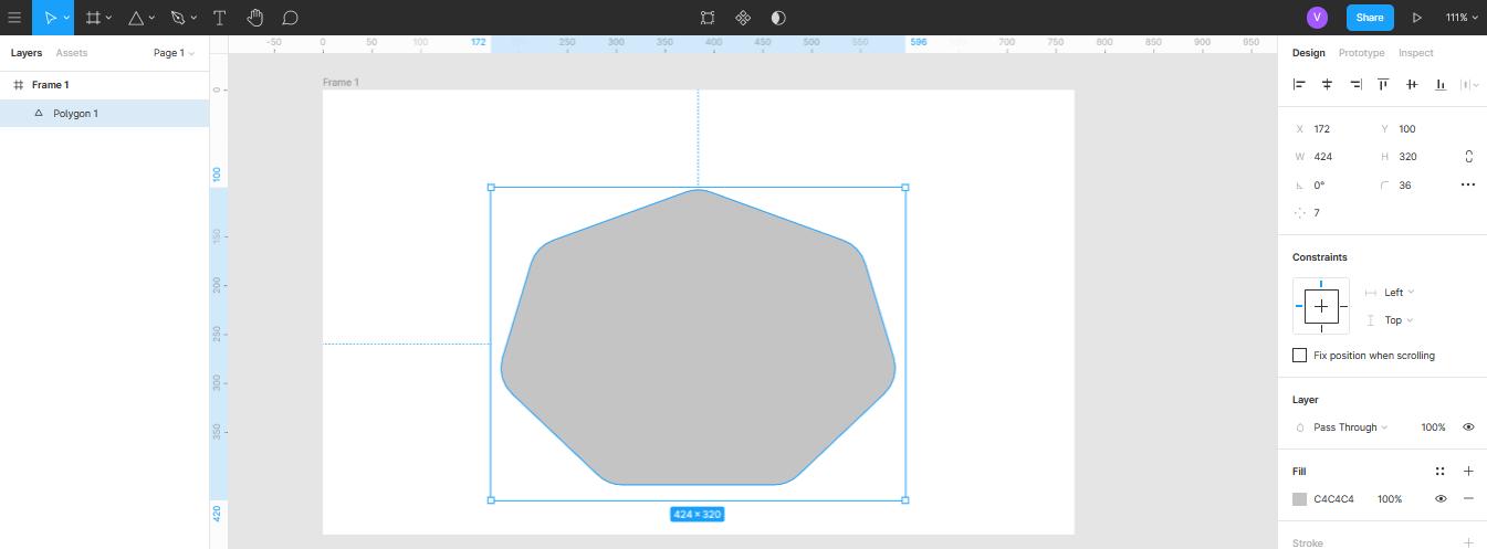 создание многоугольника в Figma