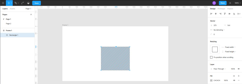 редактирование стандартных фигур при помощи пера в Figma