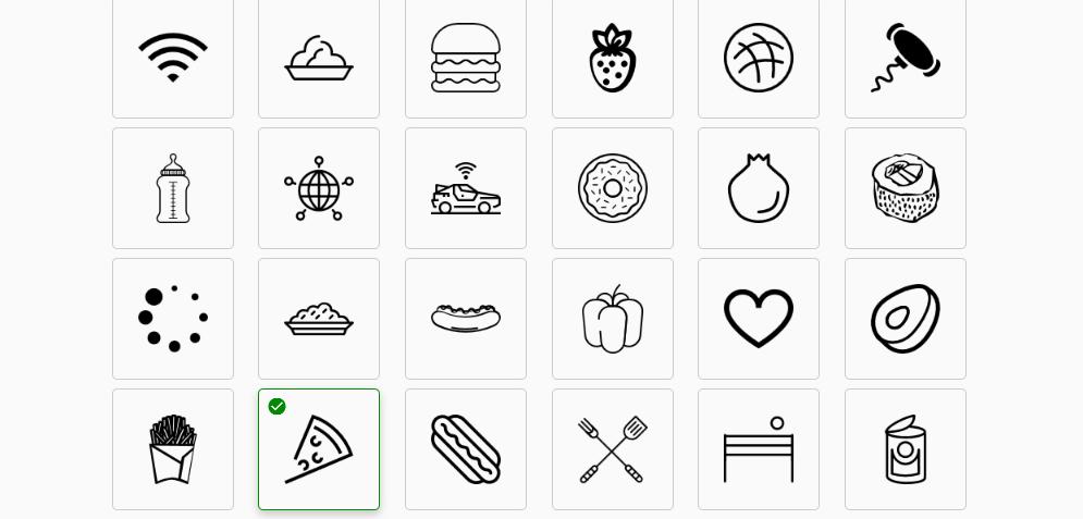 выбор иконки в  Logaster