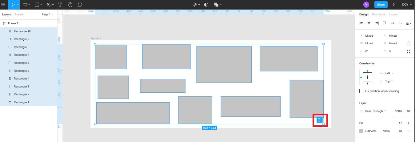 функцией Tidy app в Figma