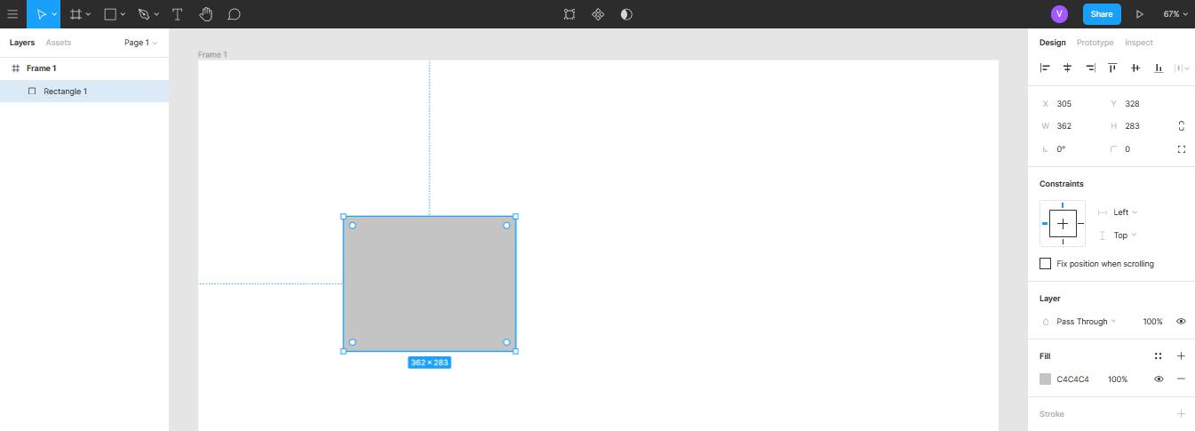 создание прямоугольника в Figma