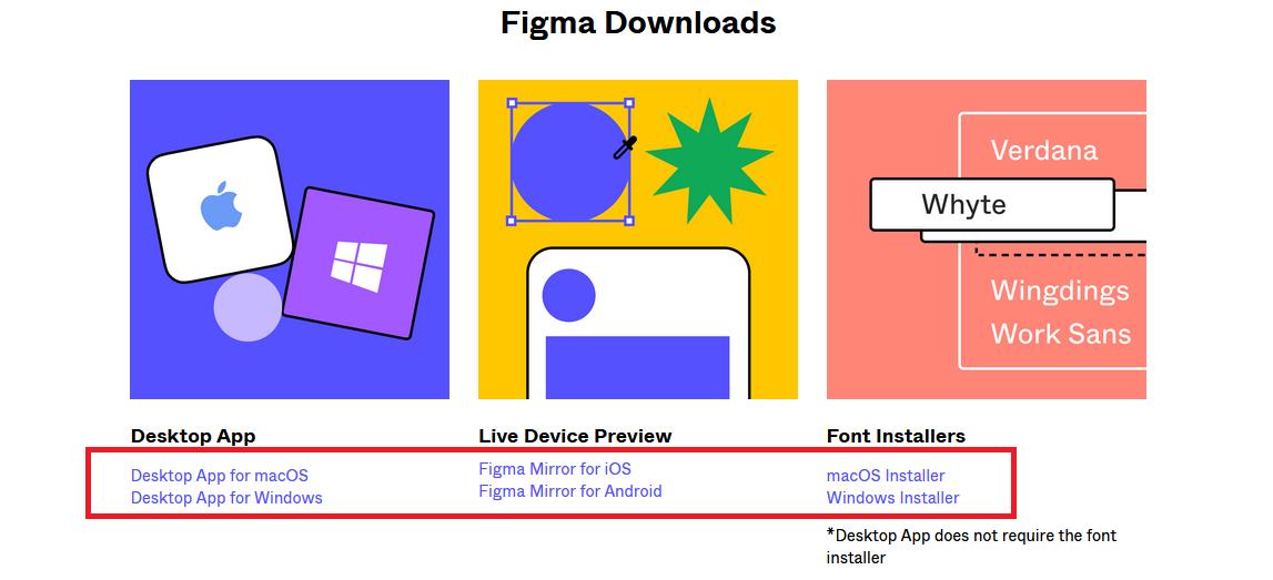 загрузка программы Фигма на компьютер или мобильные устройства