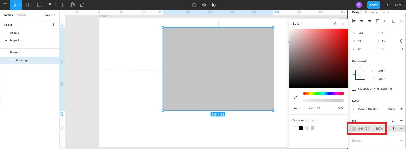 управление цветом и прозрачностью объектов в Figma