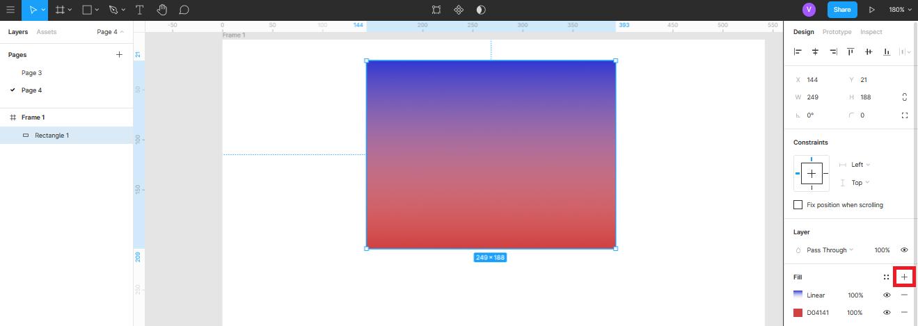 комбинирование цвета в Figma