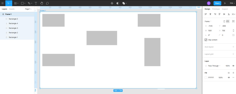 сохранение позиционирования объектов при растягивании фрейма в Figma