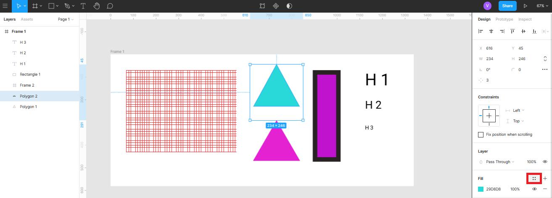 создание стилей цвета в Figma
