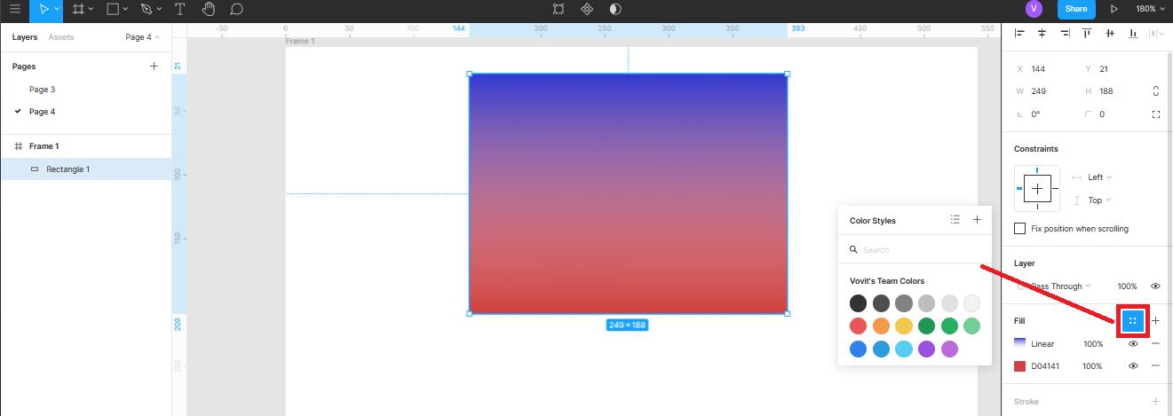 раздел Color Styles в Figma