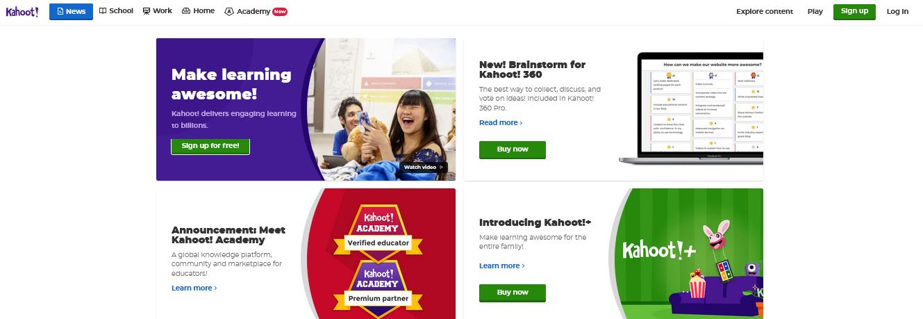 сервис создания тестов и опросов Kahoot