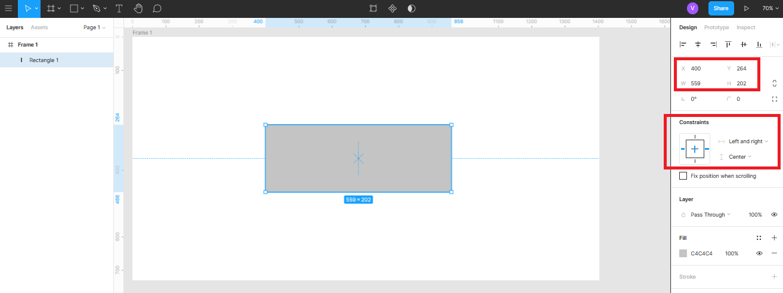 масштабирование объекта по центру относительно фрейма в Figma
