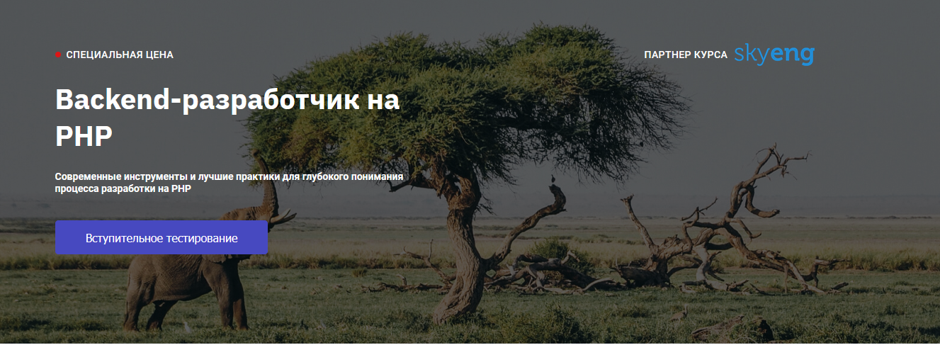 Курс от OTUS - программист PHP