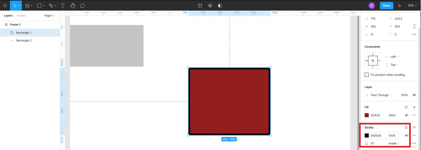 Добавление обводки векторным объектам в Figma