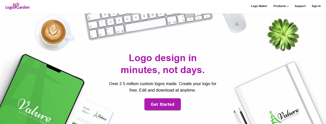 создание логотипа в Logo Garden