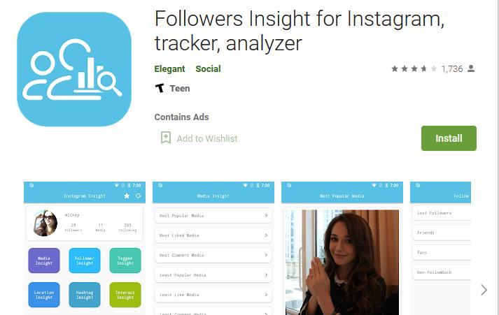 приложение Followers Insight for Instagram для платформы Android