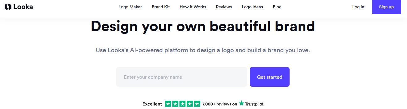 создание логотипа в Looka