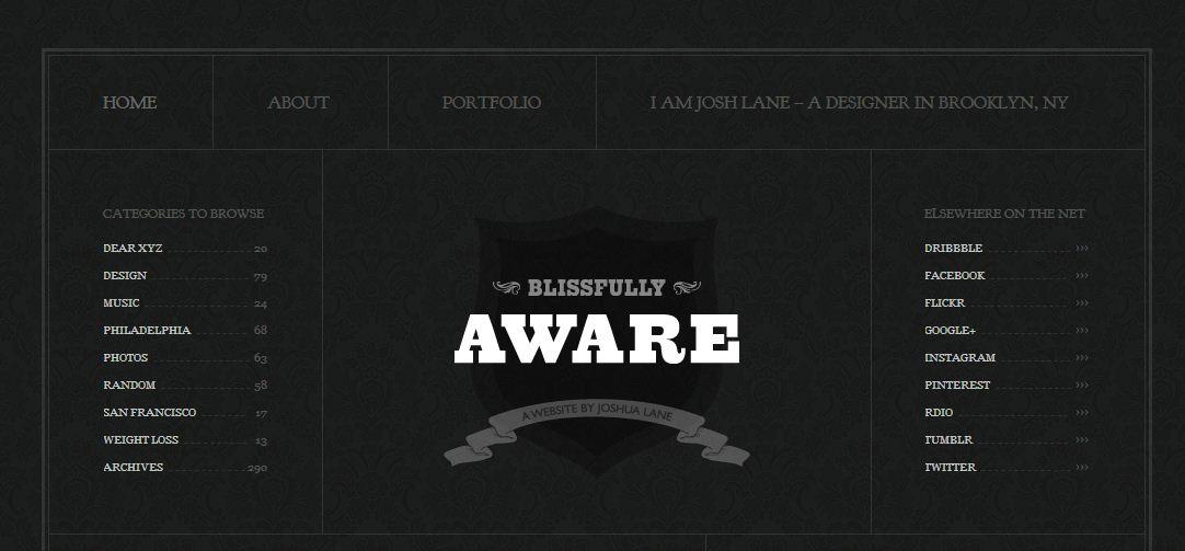 темный фон сайта