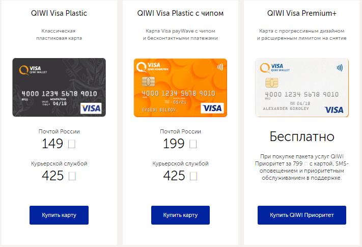Пластиковые карты QIWI