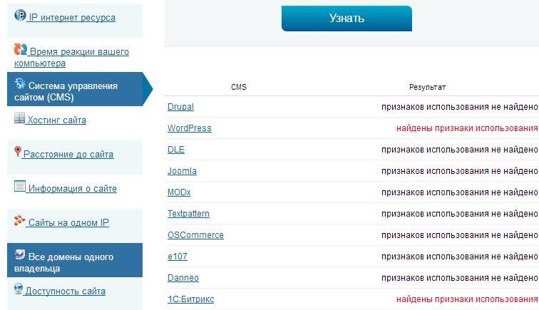 Пример работы 2ip.ru