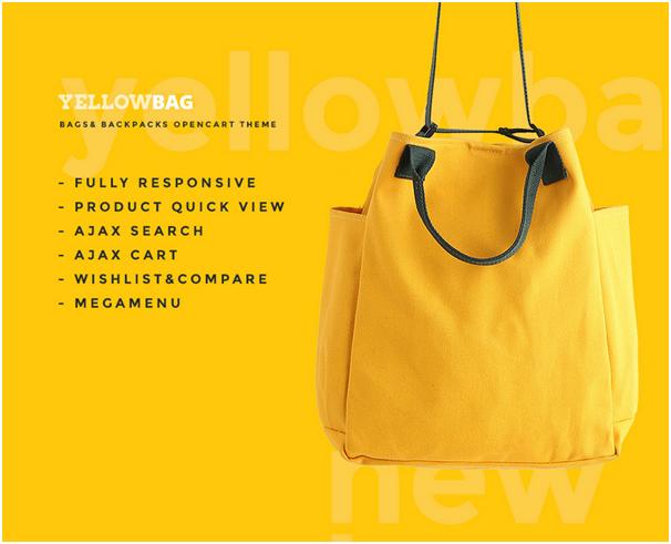 Магазин сумок на OpenCart