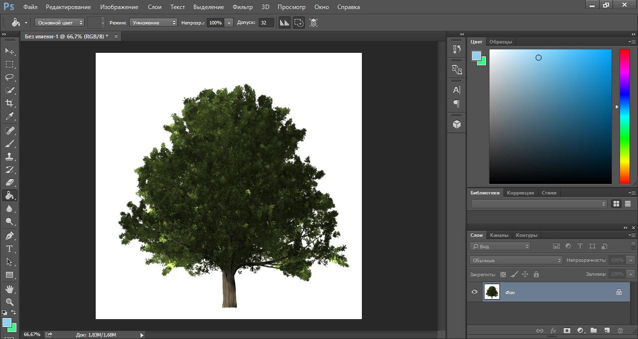 Результат в виде дерева