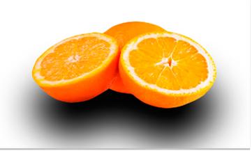 апельсины с тенью