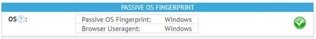 Passive OS Fingerprint